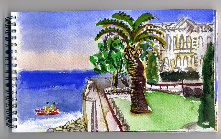 Water Color Painting - Monaco Sea Museum by Chevassus-agnes Jean-pierre