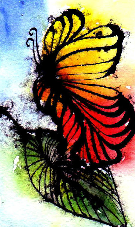 Butterfly Painting - Monarch by Anne Duke