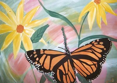 Butterfly Painting - Monarch At Play   Original by Christine Ward