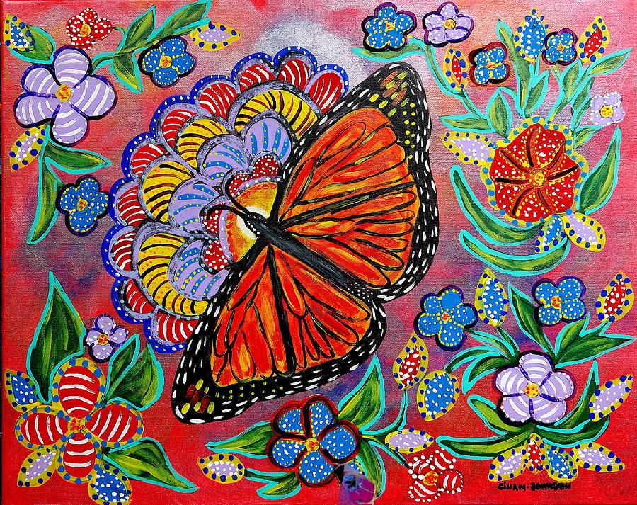 Monarch butterfly by Gina Nicolae Johnson