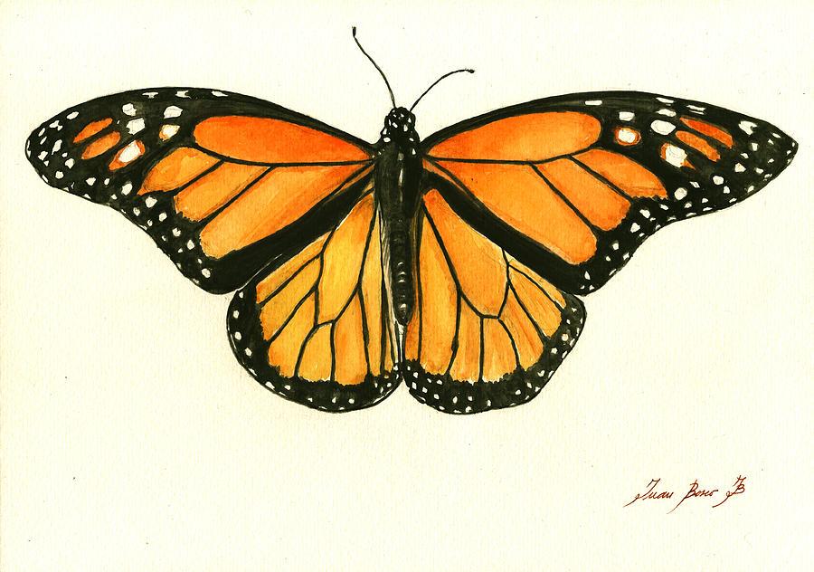 Monarch Butterfly Painting - Monarch butterfly by Juan Bosco