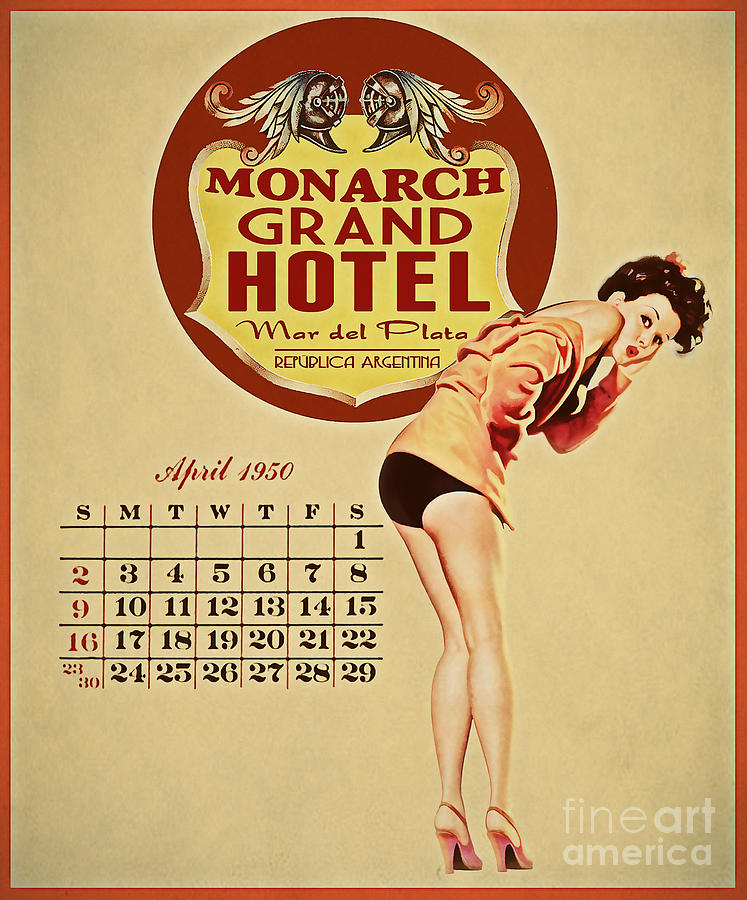 Pinup Painting - Monarch Grand Hotel by Cinema Photography