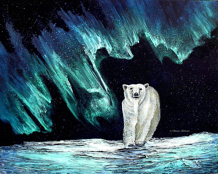 Bear Painting - Monarch of His Arctic Domain by Dianne Roberson