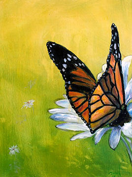 Monarch Painting by Robert Zwickel