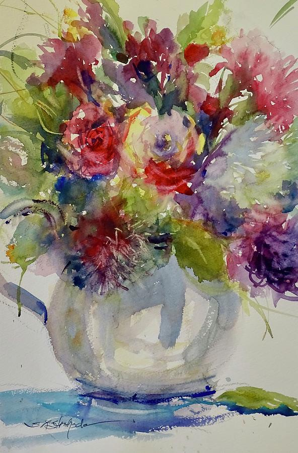 Floral Painting - Monday Morning by Sandra Strohschein