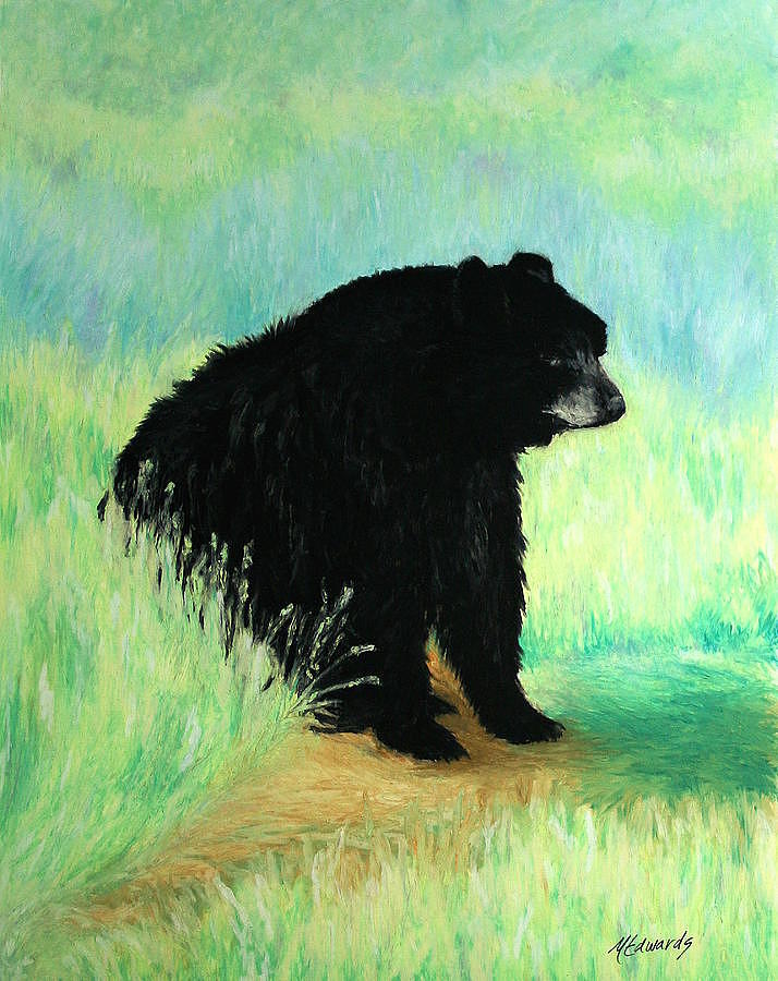 Bear Painting - Mondays by Marna Edwards Flavell