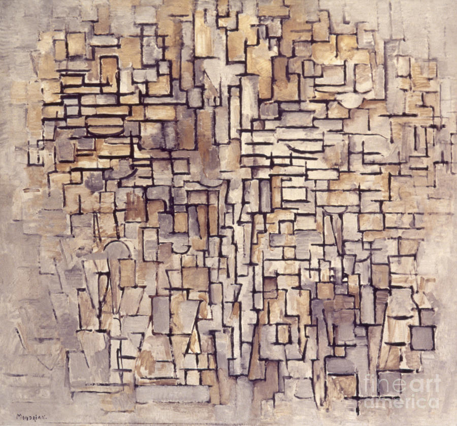 Abstract Photograph - Mondrian: Composition, 1913 by Granger