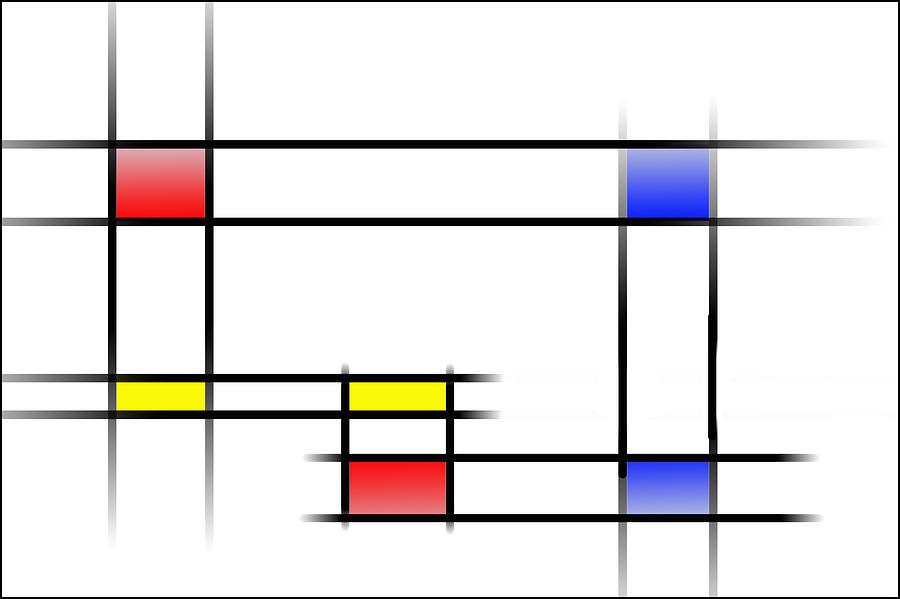 Digital Digital Art - Mondrian In Motion 2 by Peter Leech