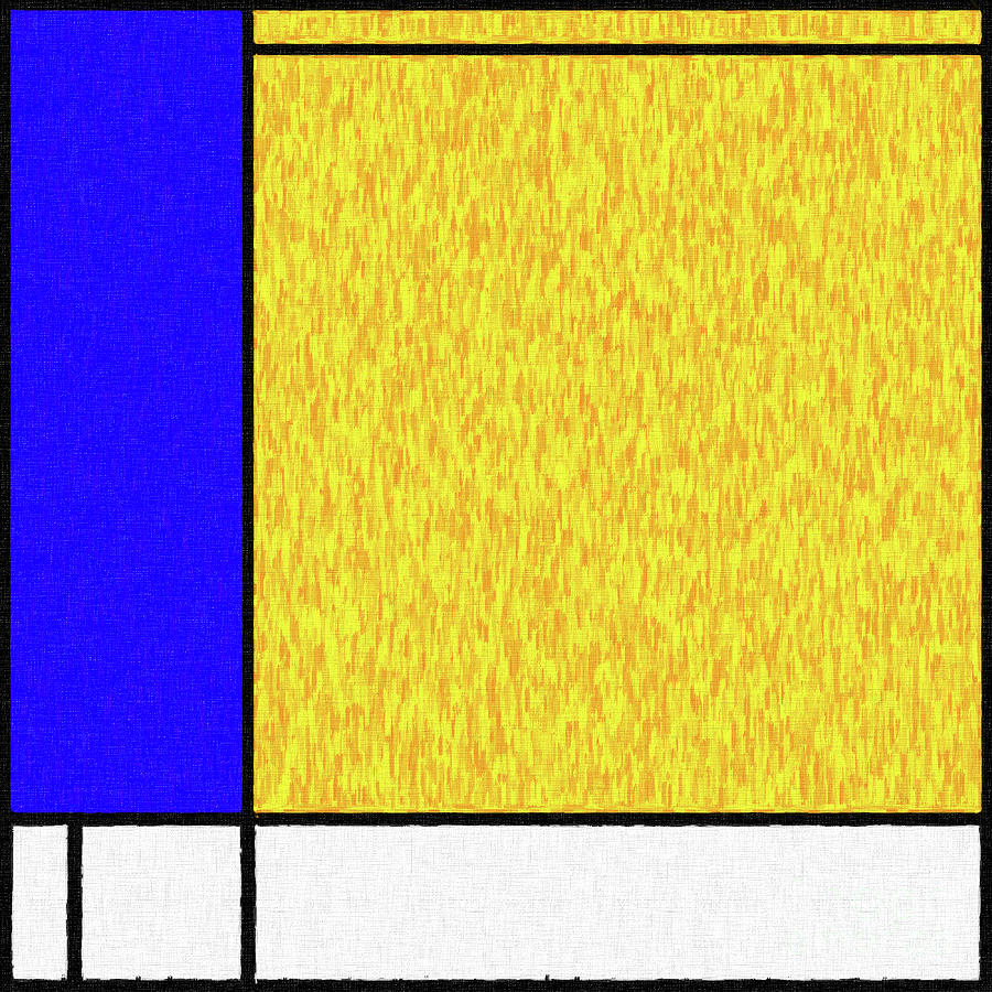 Mondrian Inspired Digital Painting 04 Digital Art by Antony McAulay