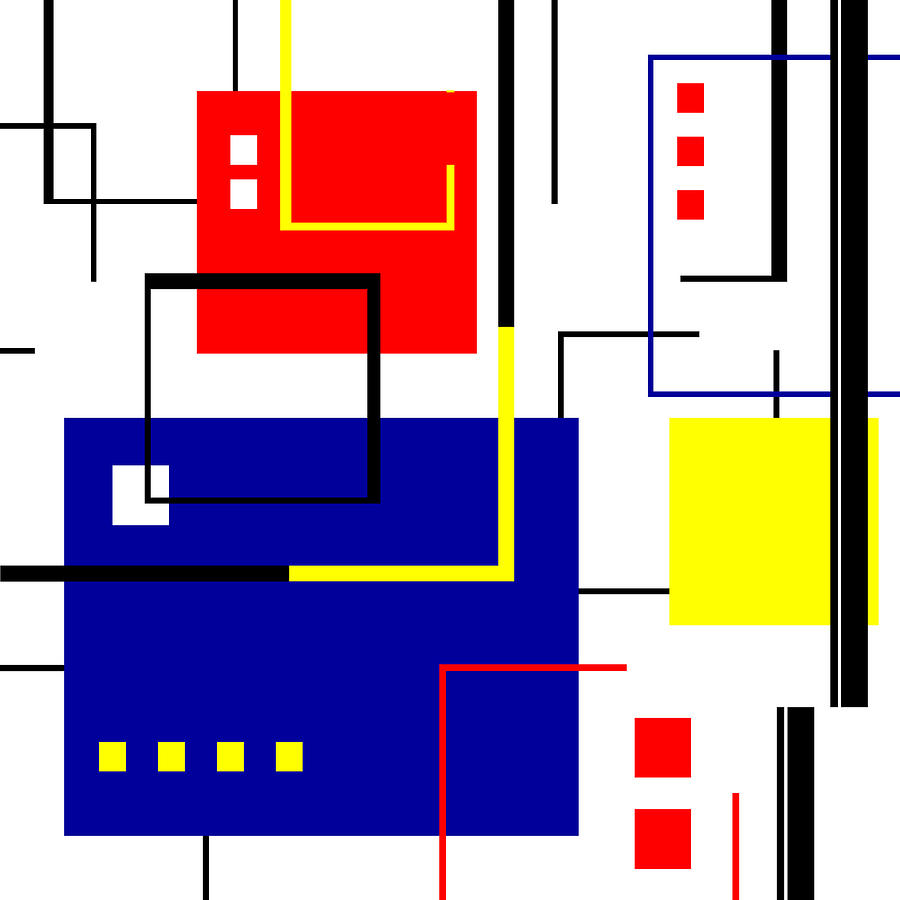 De Stijl Digital Art - Mondrian Redux by Tara Hutton