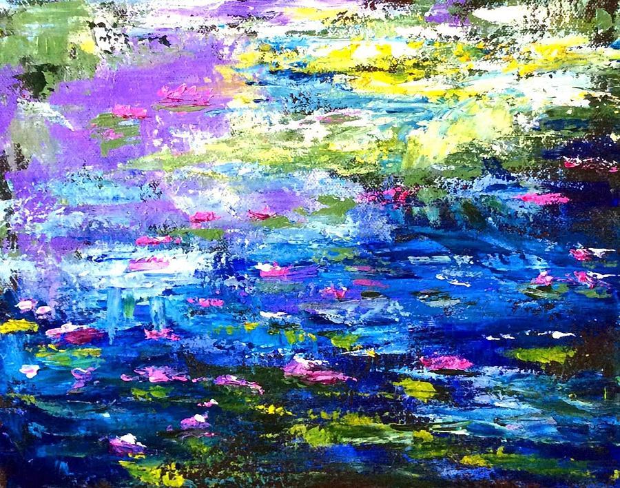 Blue Painting - Monet Magic by Linda Taylor-Hurt