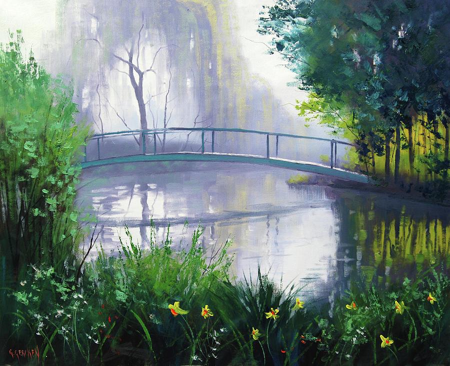 Monet Painting - Monets Garden  by Graham Gercken