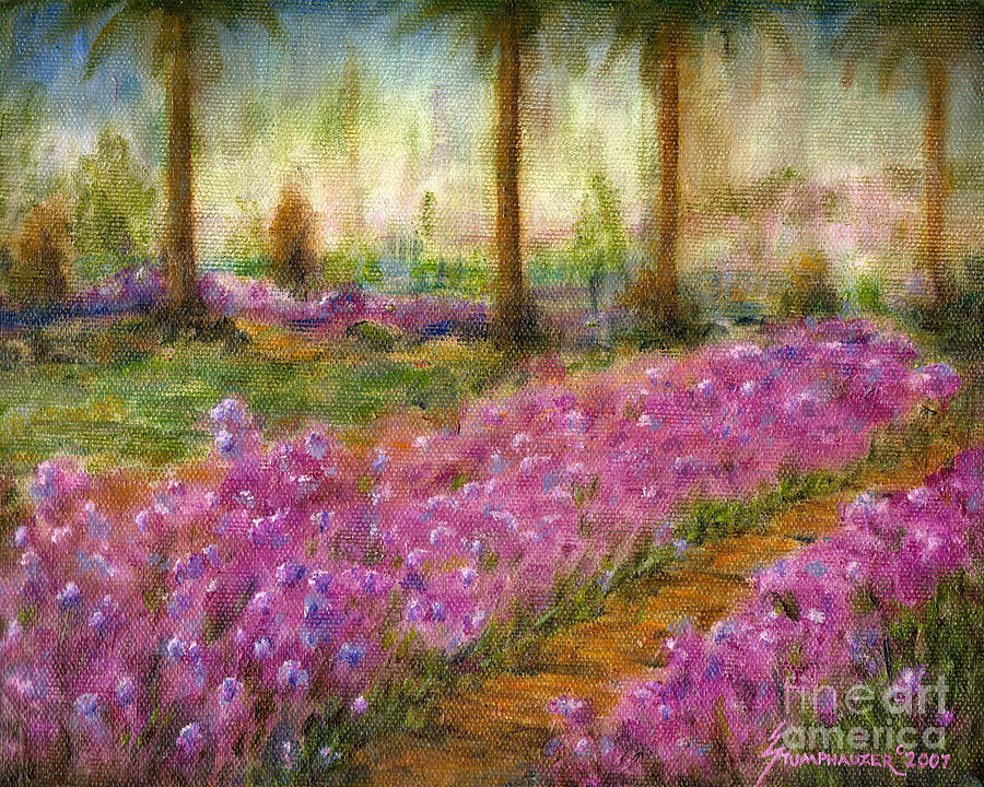 Monet Painting - Monets Garden In Cannes by Jerome Stumphauzer
