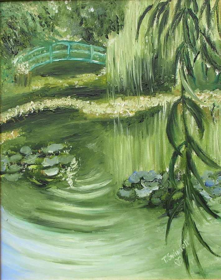 Monet Painting - Monets Garden by Tina Swindell