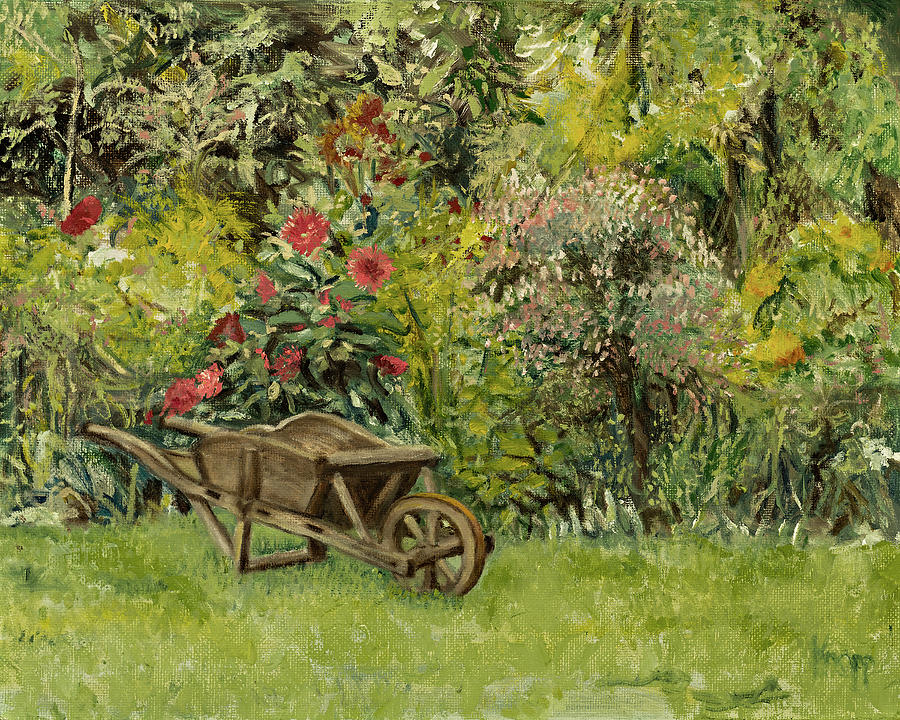 Monet's Garden Wheelbarrel by Kathy Knopp