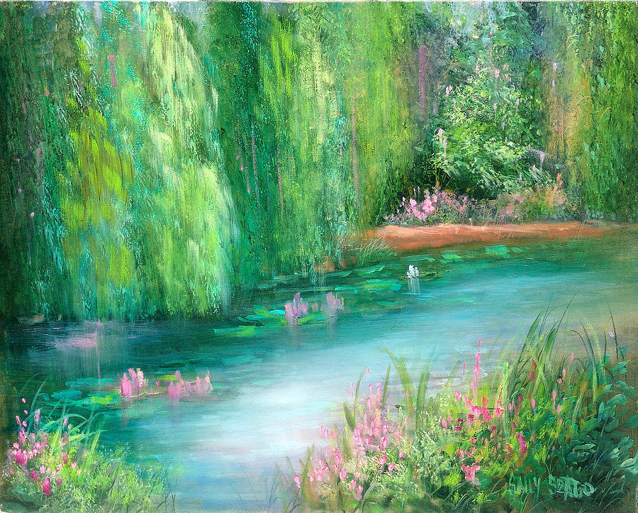Monet Painting - Monets Pond by Sally Seago