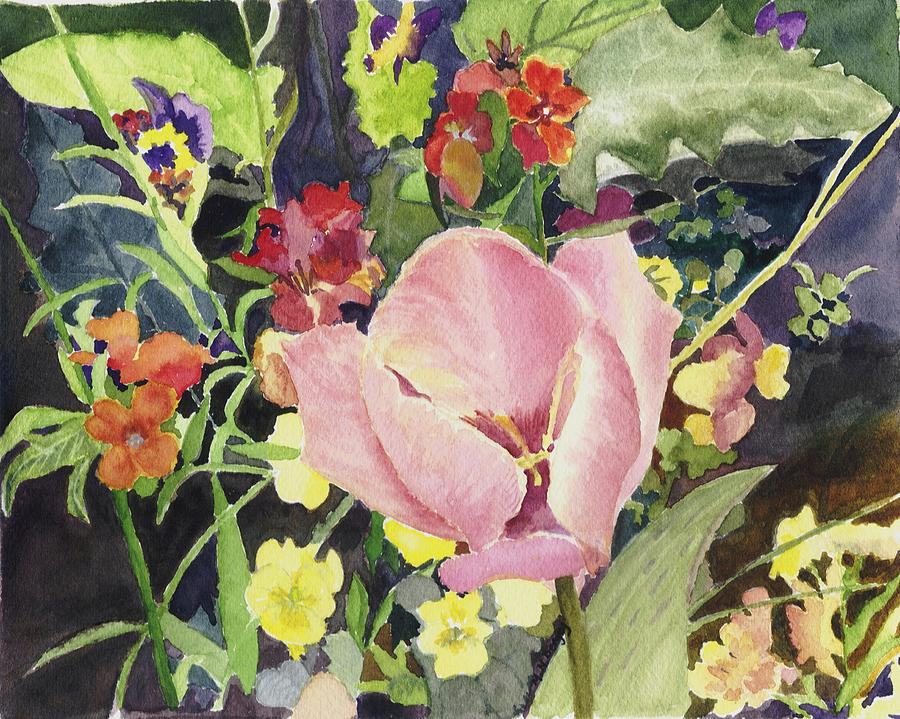 Floral Painting - Monets Tulip by Peggy Bergey
