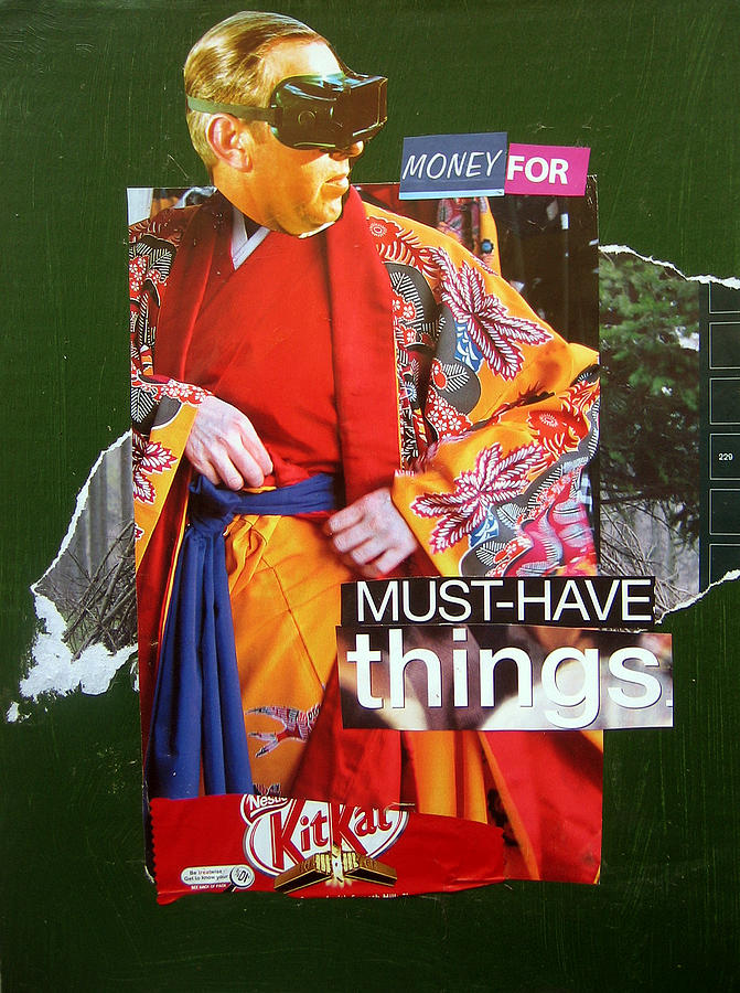 Surreal Mixed Media - Money For Must Have Things by Adam Kissel