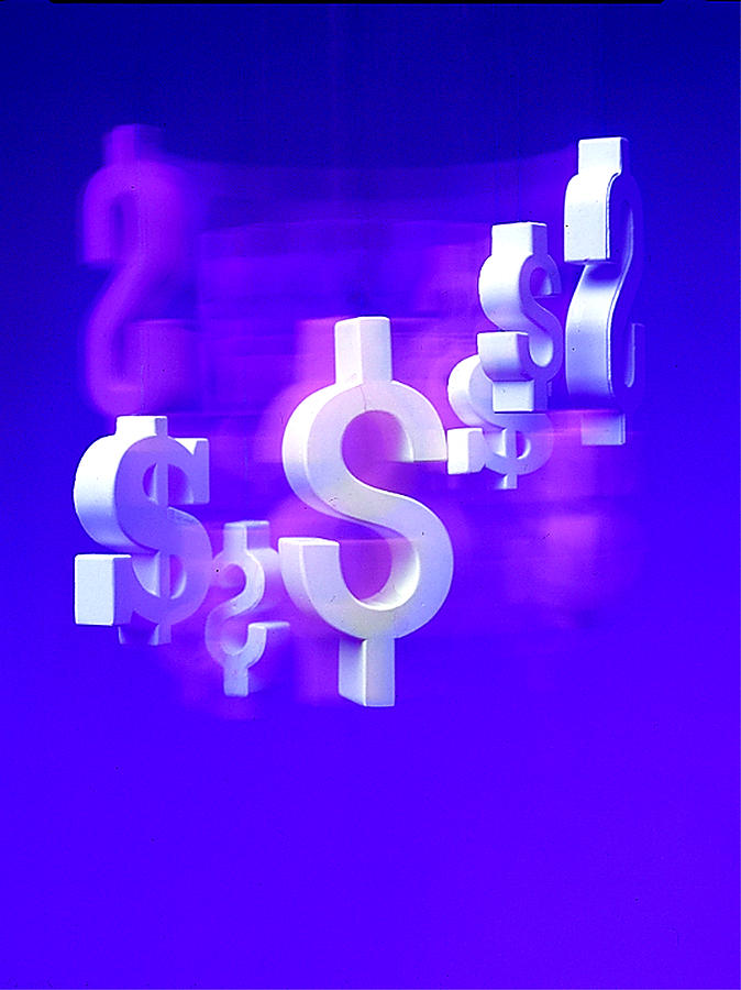 Conceptual Photography Photograph - Money Problems by Steven Huszar