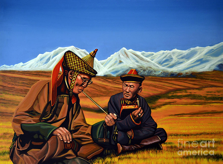 Mongolia Painting - Mongolia Land Of The Eternal Blue Sky by Paul Meijering