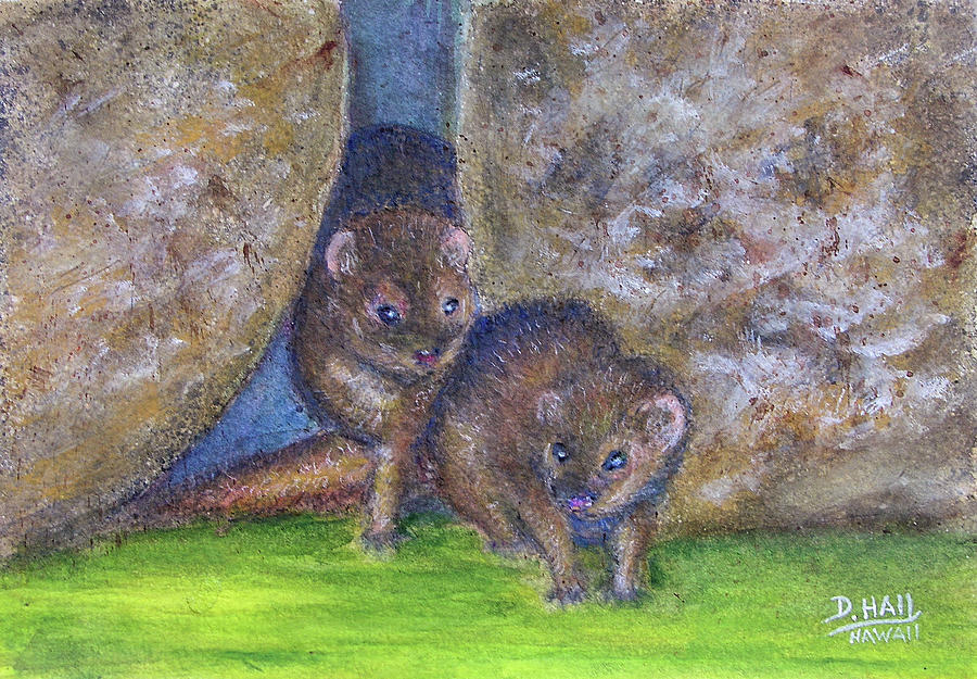 Mongoose Painting - Mongoose #511 by Donald k Hall