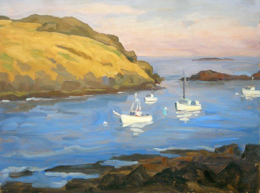 Maine Painting - Monhegan Morning by Thor Wickstrom