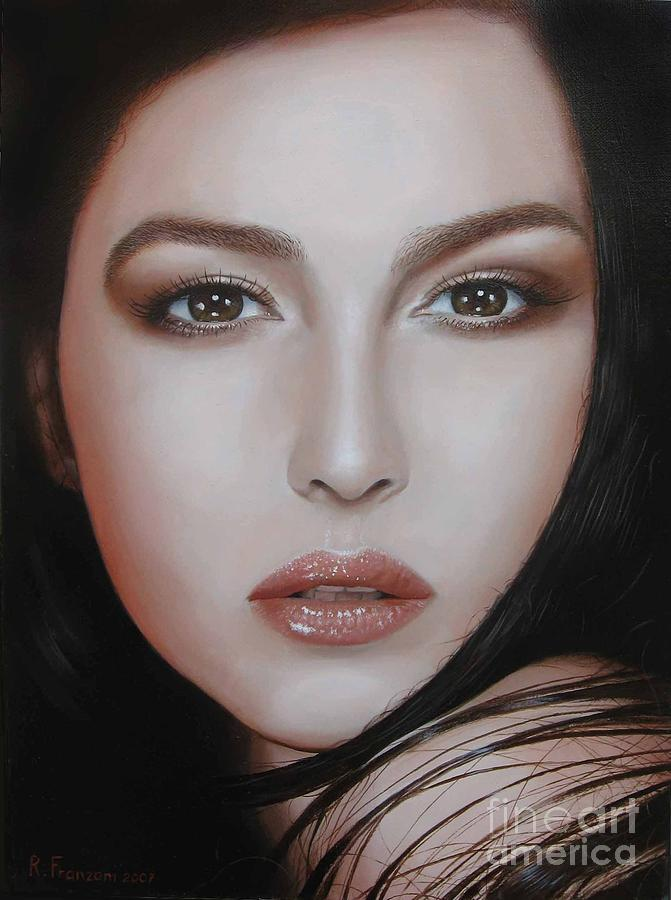 Celebrity Painting - Monica by Riccardo Franzoni