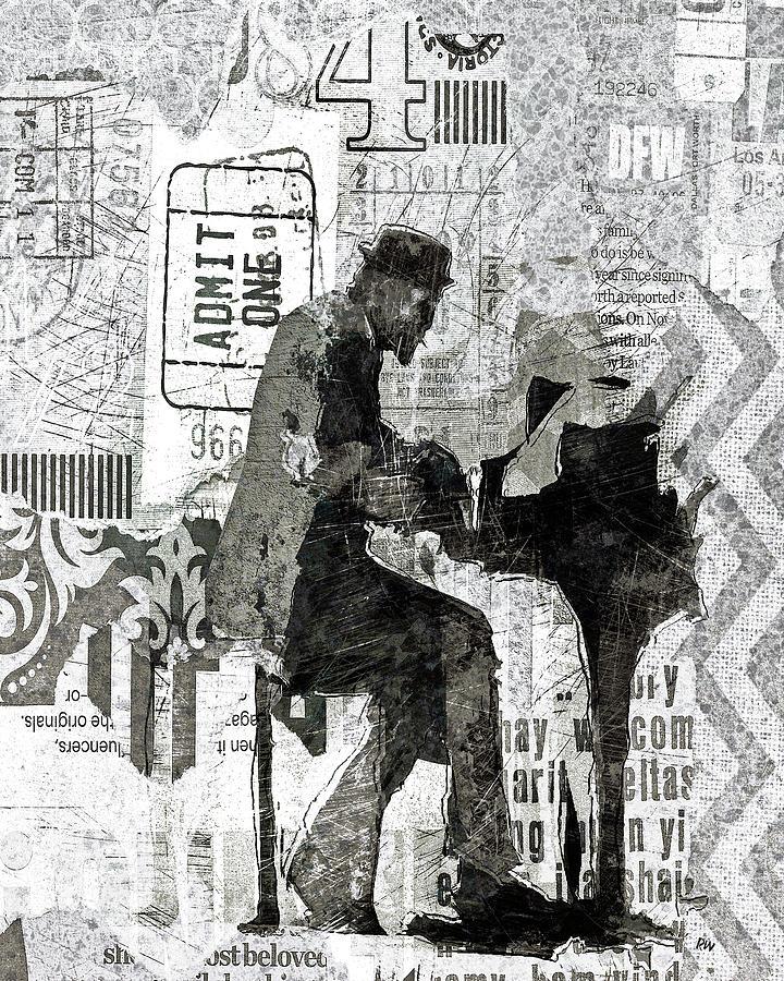 Monk Digital Art - Monk Plays by Regina Wyatt