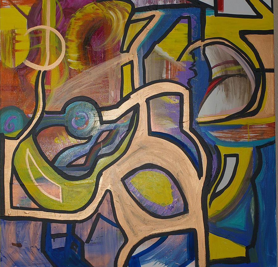 Abstract Painting - Monkey Business  by Brooks Blackwood