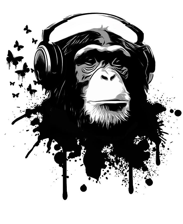 Ape Digital Art - Monkey Business by Nicklas Gustafsson