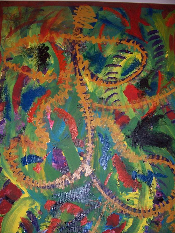 Monkey Man Painting by Samantha  Gilbert