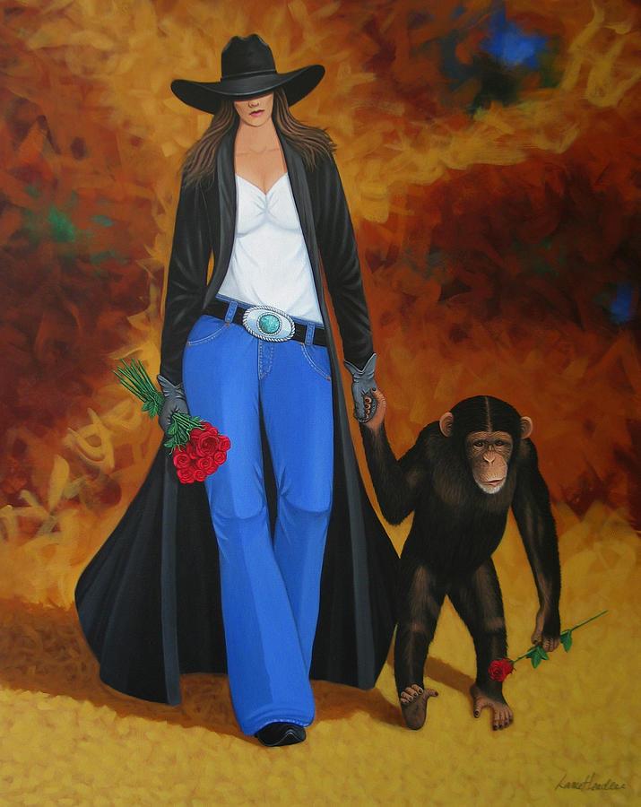 Monkey Painting - Monkeys Best Friend by Lance Headlee