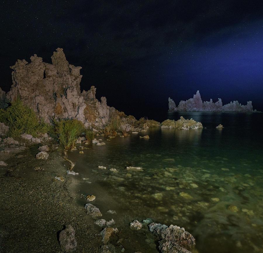 Mono Lake Tufa at Lakeside by Hal Mitzenmacher