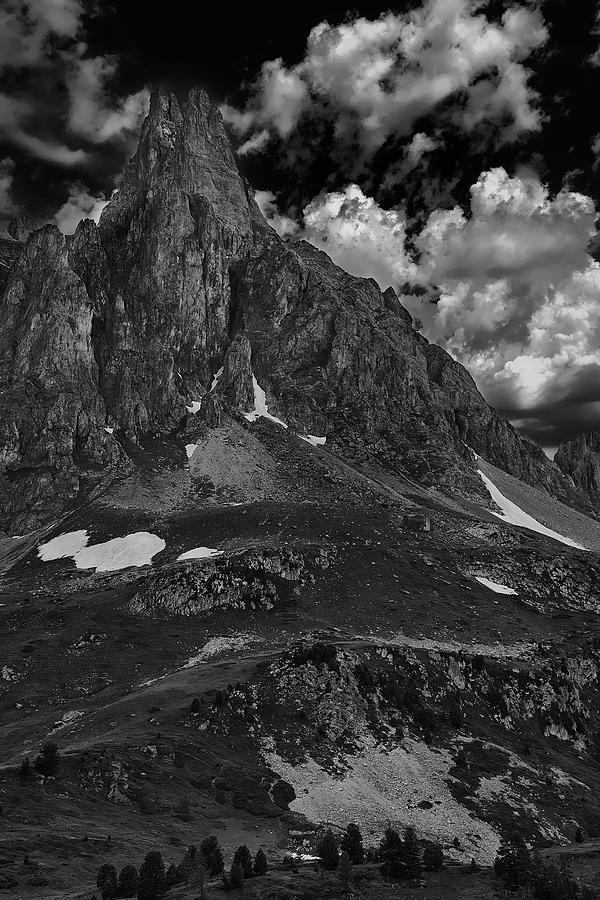 Black And White Photograph - Monochromatic In The Alps by Jon Glaser