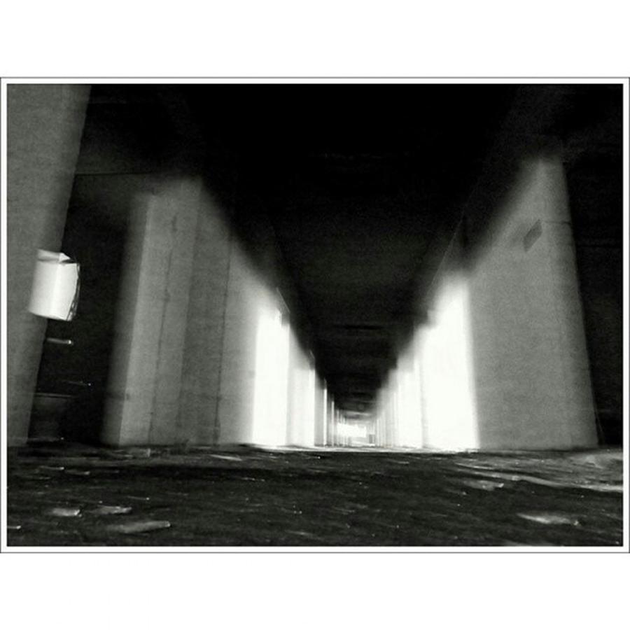 Shadows Photograph - #monochrome  #fuji #finepixs1 by Mandy Tabatt