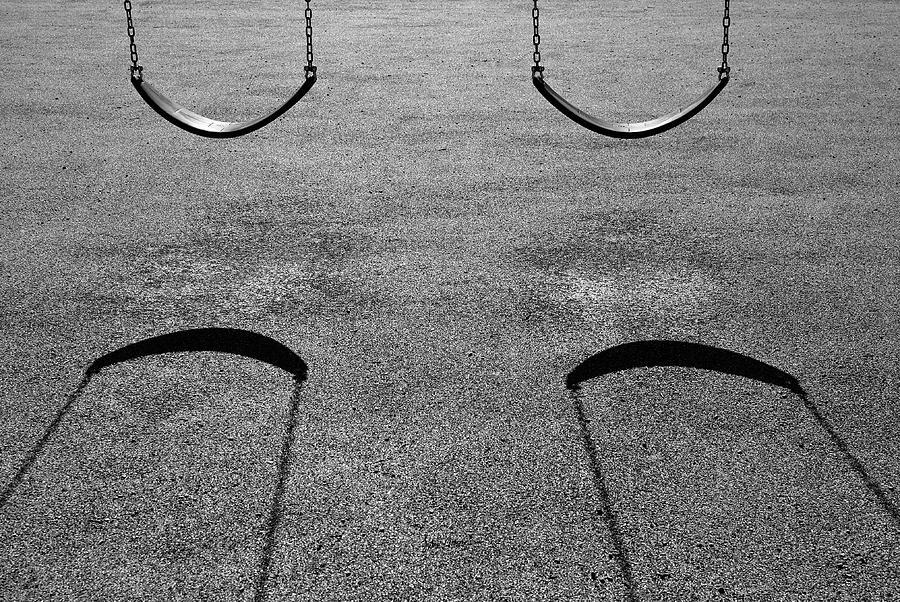 Swing Photograph - Monochrome Swings by Luke Moore