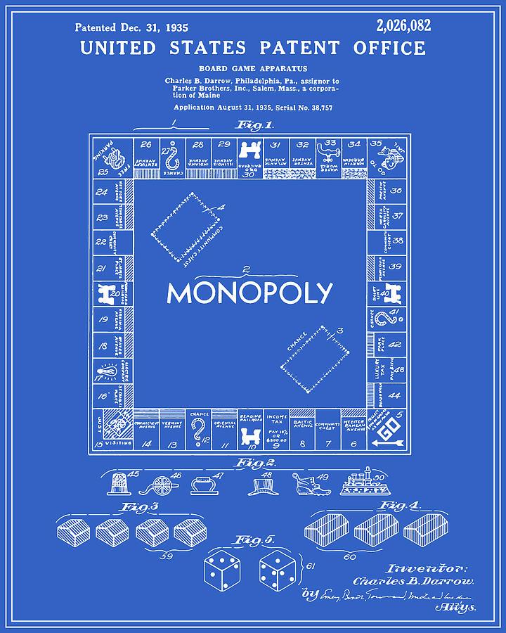 Monopoly patent blueprint digital art by finlay mcnevin patent digital art monopoly patent blueprint by finlay mcnevin malvernweather Choice Image