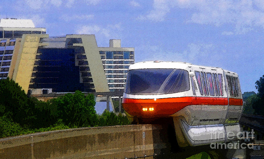 Artwork Painting - Monorail by David Lee Thompson