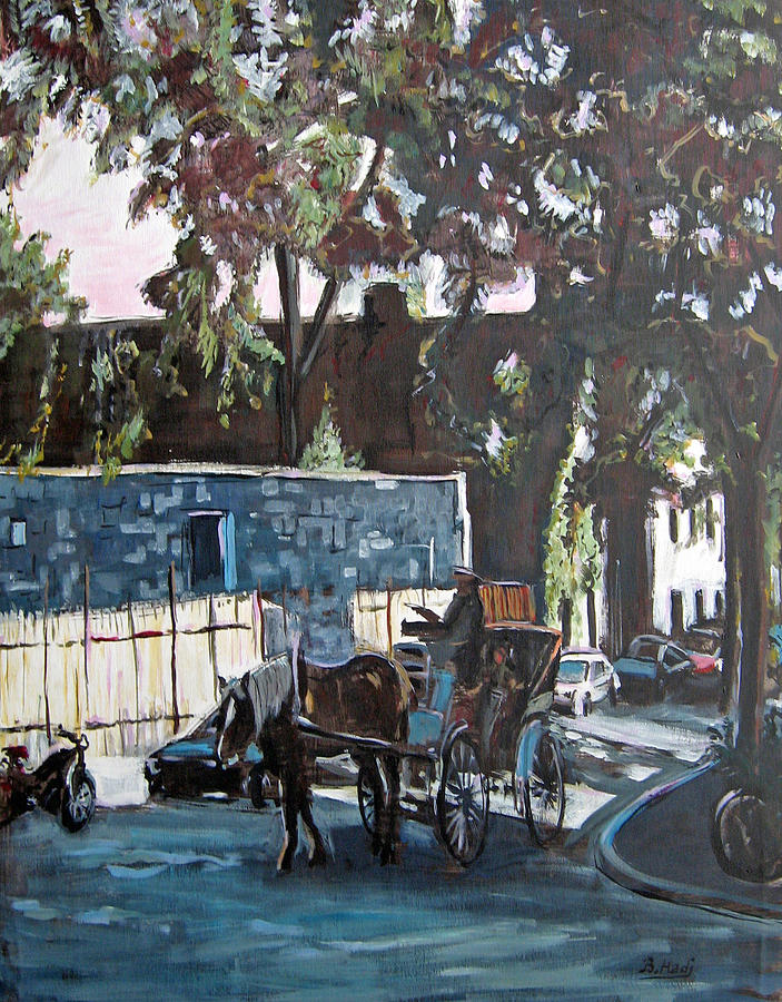 Paysage Painting - Monreal La Caleche by Mohamed Bel Hadj