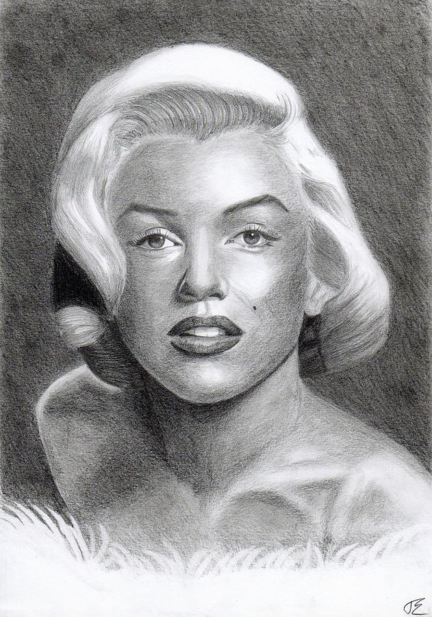 Marilyn Monroe Drawing - Monroe 02 by Eniko Tanyi
