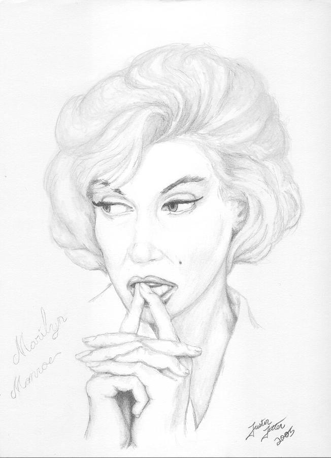 Portrait Drawing - Monroe by Justin Jetton