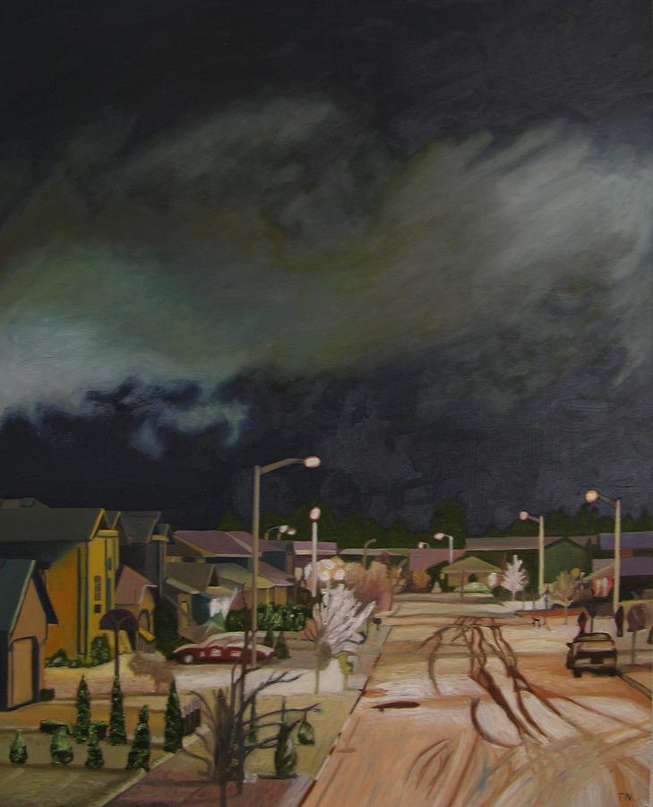 Landscape Painting - Monroe Winter 97 by Thu Nguyen