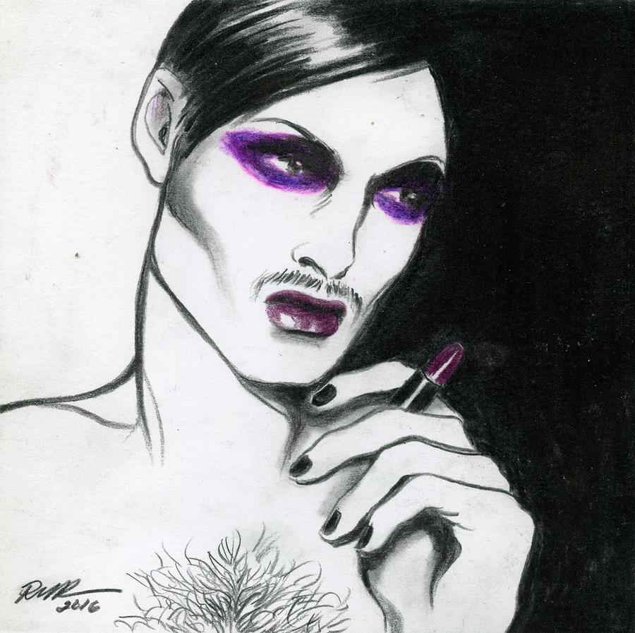 Genderqueer Drawing - Monsieur-madame by Robert W Richards