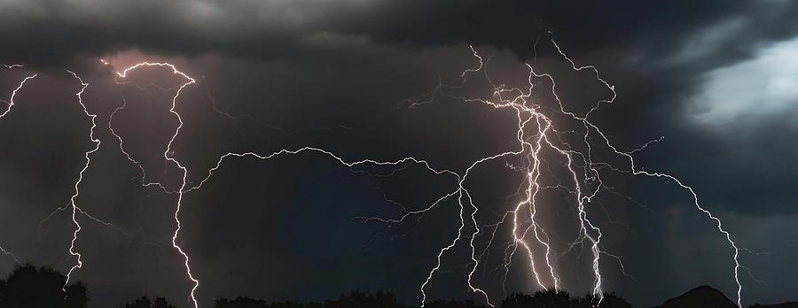 Monsoon Lighting Storm by ELAINE MALOTT
