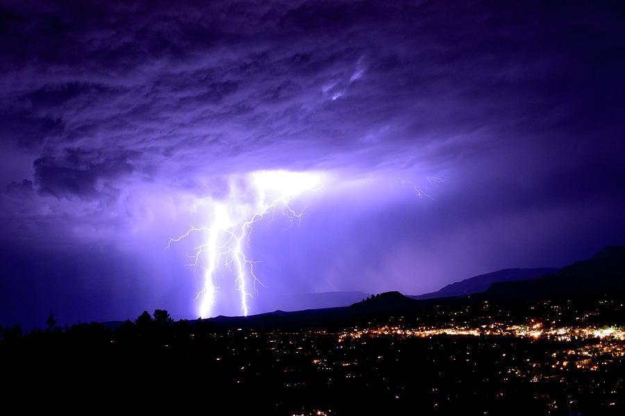 Monsoon Over Sedona Photograph by Heber Lopez