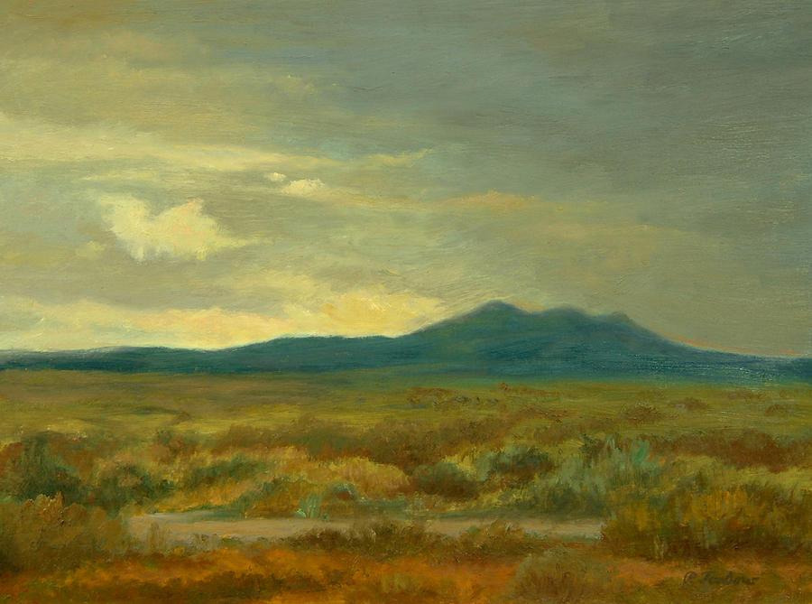 Oil Landscape Painting - Monsoon Season Near Taos by Phyllis Tarlow