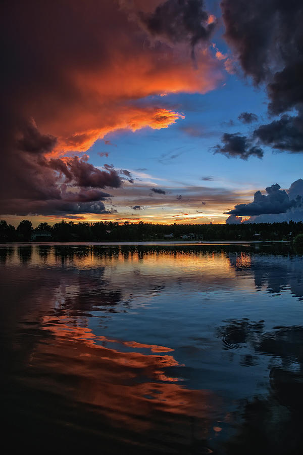 Monsoon Sunset on Lake Pagosa by Jason Coward