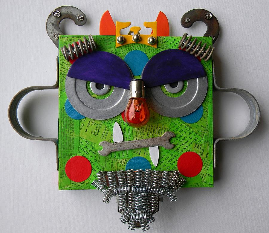 Monster Mixed Media - Monster King by Jen Hardwick
