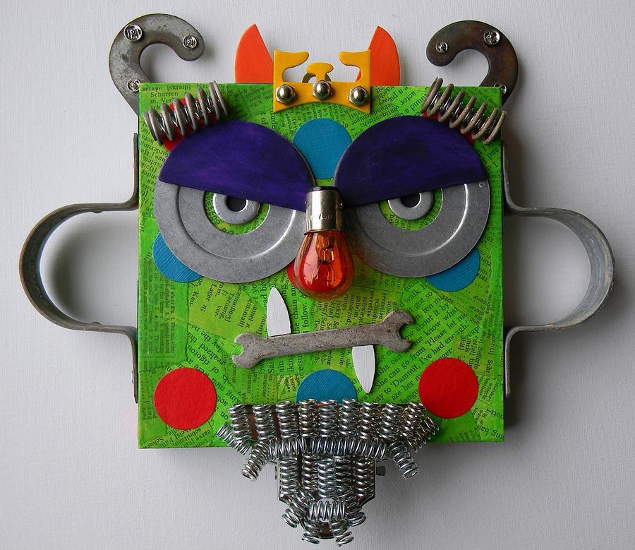 Monster King Mixed Media - Monster King by Jen Hardwick
