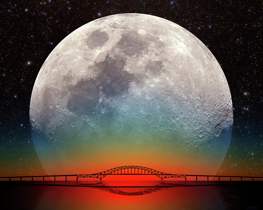 Monster Moonrise by Larry Landolfi